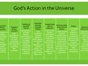 Options in Divine Action